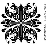 vector tribal style   abstract | Shutterstock .eps vector #1837197511
