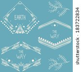 set of symmetrical graphic... | Shutterstock .eps vector #183722834