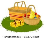 vector illustration of a picnic ... | Shutterstock .eps vector #183724505