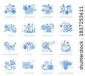 set of flat line icons of... | Shutterstock .eps vector #1837253611