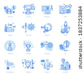 set of flat line business icons.... | Shutterstock .eps vector #1837253884