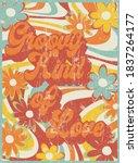 slogan print with hippie style...   Shutterstock .eps vector #1837264177
