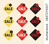 flat sale label and badge... | Shutterstock .eps vector #1837274317