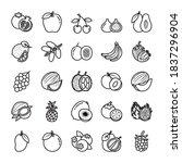 here presented 25 fruits line...   Shutterstock .eps vector #1837296904