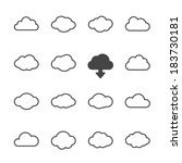 vector cloud shapes set  cloud... | Shutterstock .eps vector #183730181