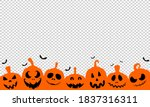 halloween party banner  with... | Shutterstock .eps vector #1837316311