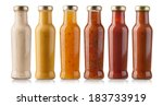 the various barbecue sauces in... | Shutterstock . vector #183733919