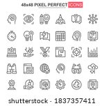 startup thin line icons set.... | Shutterstock .eps vector #1837357411