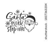 santa please stop here positive ... | Shutterstock .eps vector #1837363204