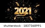 happy new year 2021. festive... | Shutterstock .eps vector #1837368991