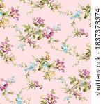 seamless fabric pattern with... | Shutterstock . vector #1837373374