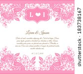 wedding invitation cards with... | Shutterstock . vector #183738167