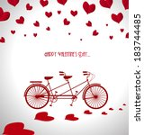 happy valentines day | Shutterstock .eps vector #183744485