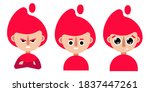 character icon with red hair | Shutterstock .eps vector #1837447261