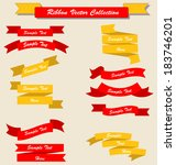 ribbon set collection yellow... | Shutterstock .eps vector #183746201