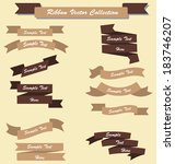 ribbon set collection chocolate ... | Shutterstock .eps vector #183746207