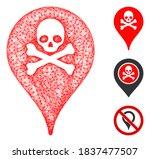 mesh danger zone map marker... | Shutterstock .eps vector #1837477507
