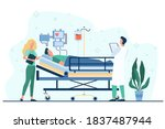 doctor and nurse giving medical ... | Shutterstock .eps vector #1837487944