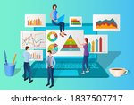 businessmen study the... | Shutterstock .eps vector #1837507717