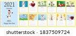 2021 calendar design with bull...   Shutterstock .eps vector #1837509724