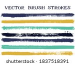 futuristic ink brush strokes... | Shutterstock .eps vector #1837518391