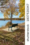 Park Bench  In A Scenic View Of ...