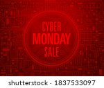 cyber monday sale red banner....   Shutterstock .eps vector #1837533097