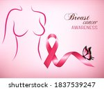 female body outline with a pink ... | Shutterstock .eps vector #1837539247