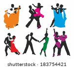 vector set of colored dancing...