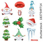 christmas cartoon 3d vector... | Shutterstock .eps vector #1837549714