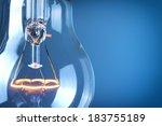 close up glowing light bulb  | Shutterstock . vector #183755189