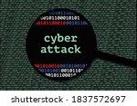 cyber attack diagram of... | Shutterstock .eps vector #1837572697