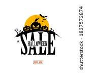 halloween sale background... | Shutterstock .eps vector #1837572874