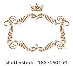 vintage vignettes vector set of ... | Shutterstock .eps vector #1837590154