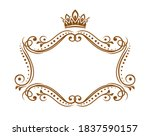 royal medieval frame with crown ... | Shutterstock .eps vector #1837590157