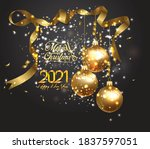 happy new 2021 year. winter... | Shutterstock .eps vector #1837597051