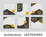 set of editable minimal square... | Shutterstock .eps vector #1837604584