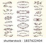 set of vintage elements... | Shutterstock .eps vector #1837622404