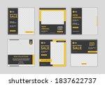 set of editable minimal square... | Shutterstock .eps vector #1837622737