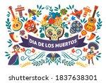 mexican holiday dia de los... | Shutterstock .eps vector #1837638301