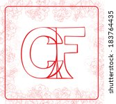 c and f letters monogram in an... | Shutterstock .eps vector #183764435