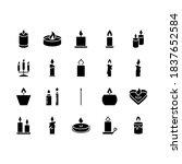Candle Icon Set. Flat Icons...
