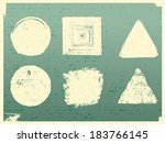 grunge elements  isolated on... | Shutterstock .eps vector #183766145