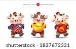 2021 chinese new year  year of... | Shutterstock .eps vector #1837672321