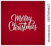 merry christmas greetings....   Shutterstock .eps vector #1837694617