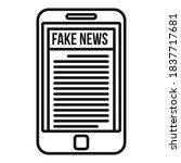 Smartphone Fake News Icon....
