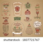 holiday menu list symbols set ... | Shutterstock .eps vector #1837721767