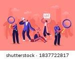 lost in crowd concept  big city ... | Shutterstock .eps vector #1837722817