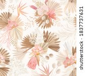 seamless tropic floral pattern  ... | Shutterstock .eps vector #1837737631