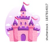 fairytale castle cartoon vector ... | Shutterstock .eps vector #1837814017